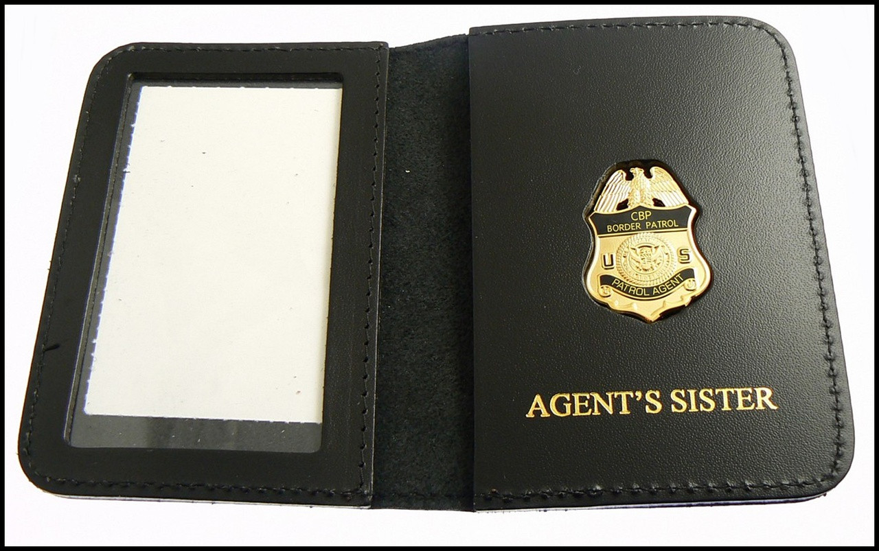 US Border Patrol Supervisor Mini Badge ID Card Holder Case with Agent's Sister Embossing