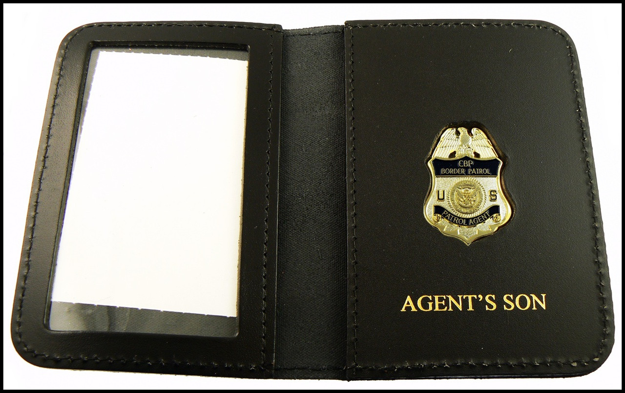 US Border Patrol Supervisor Mini Badge ID Card Holder Case with Agent's Son Embossing