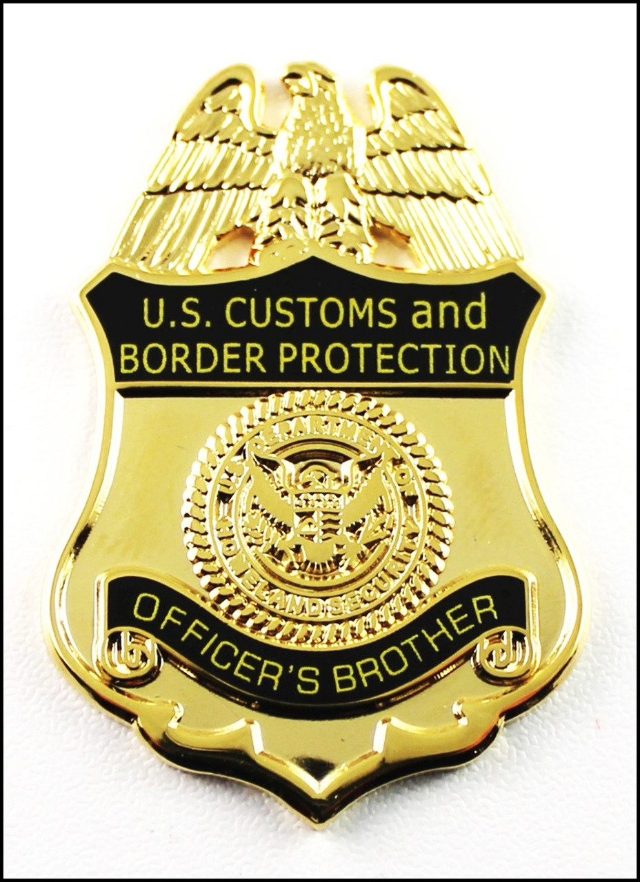 Customs and Border Protection Officers Brother Mini Badge Magnet