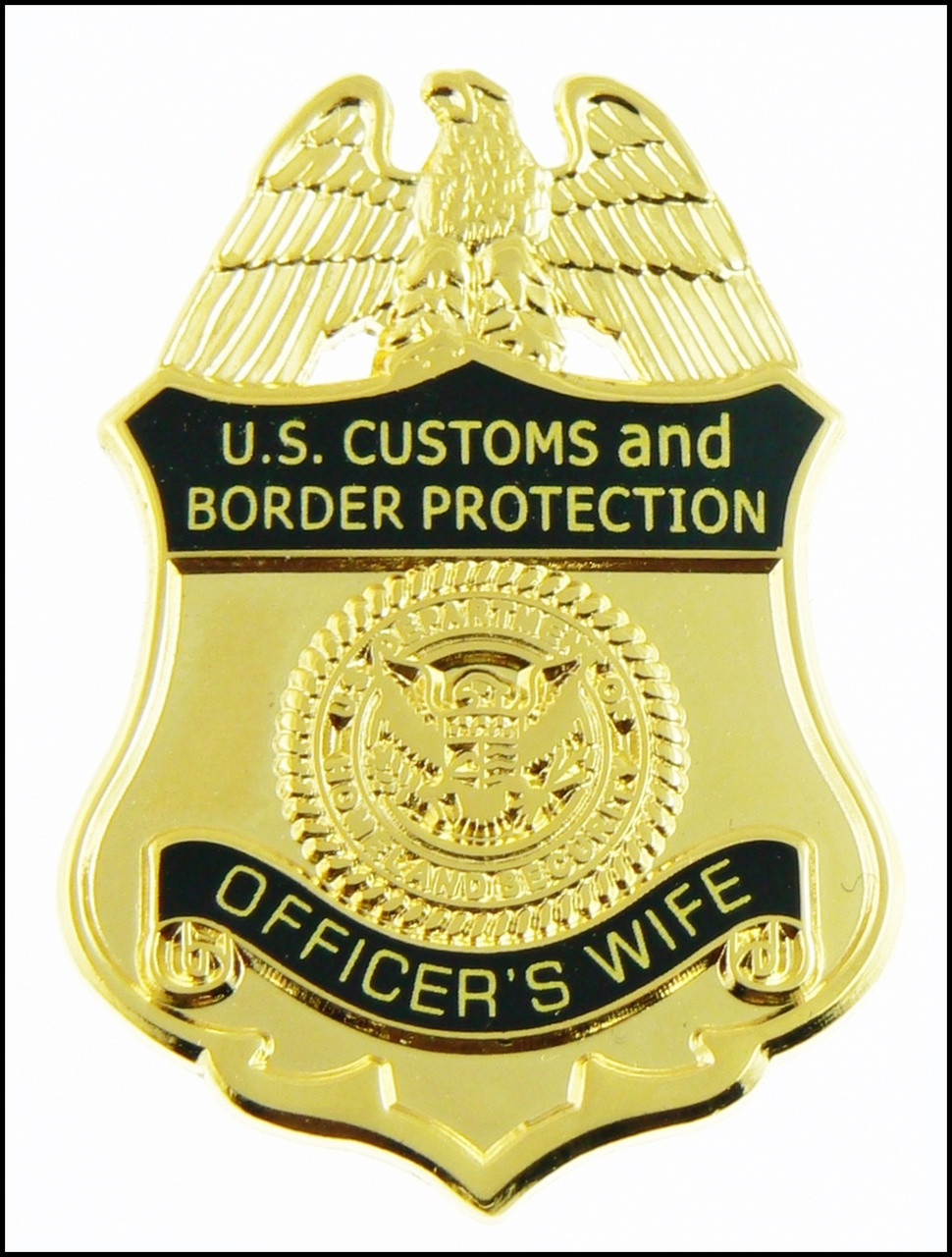 Customs and Border Protection Officers Wife Mini Badge Magnet