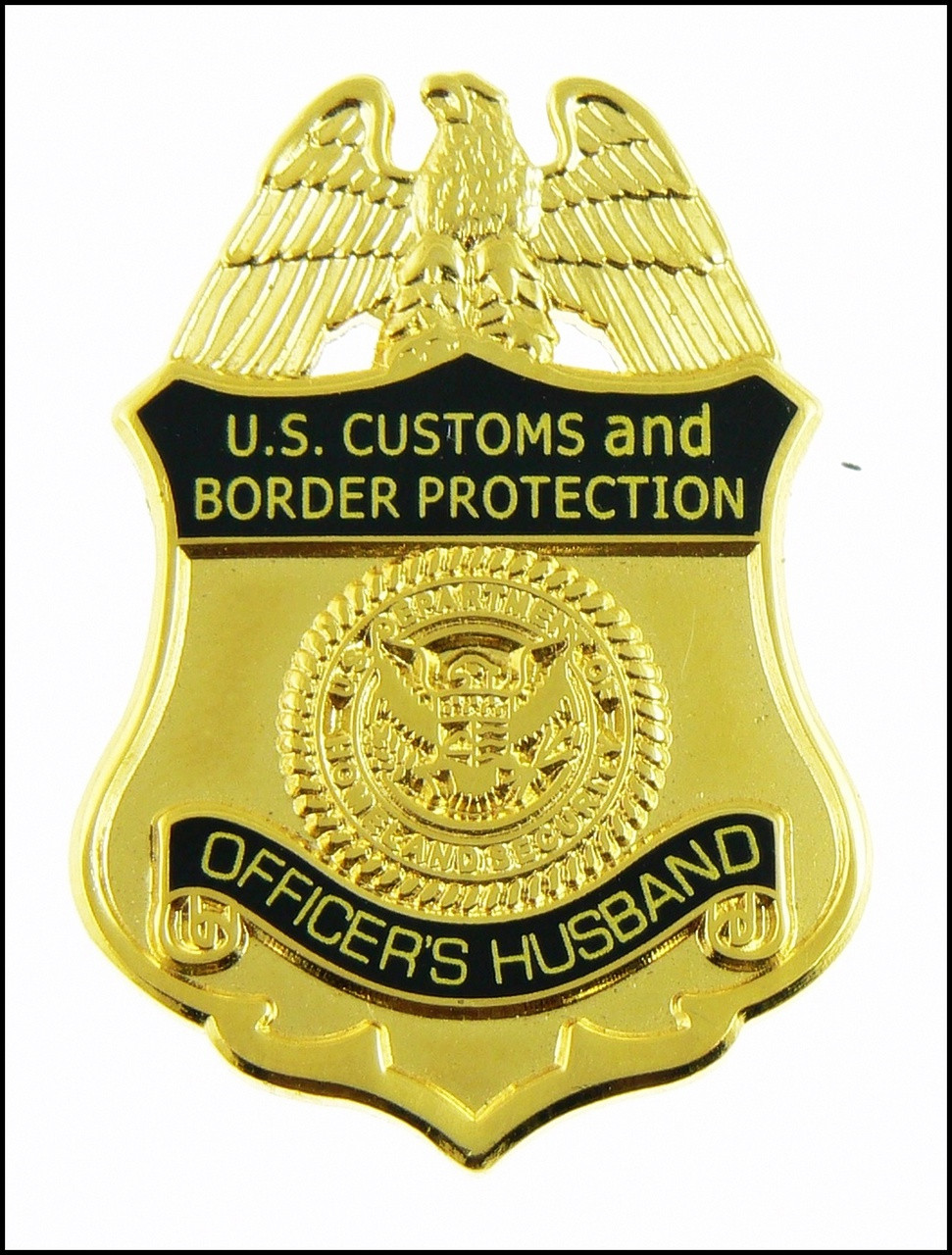 Customs and Border Protection Officers Husband Mini Badge Magnet