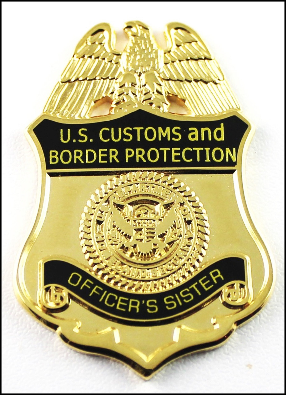 Customs and Border Protection Officers Sister Mini Badge Magnet