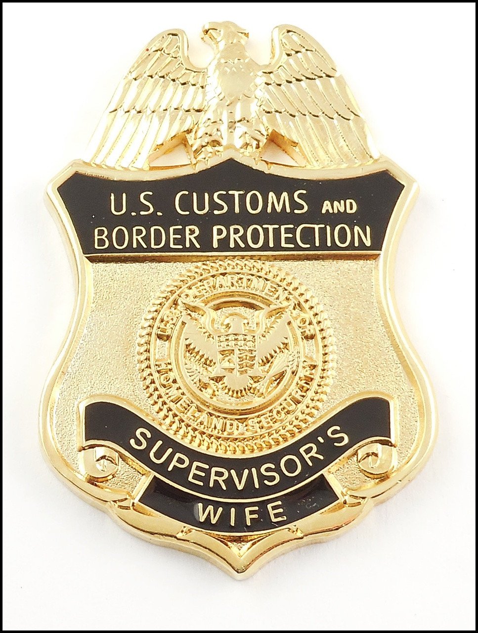 Customs and Border Protection Supervisor Wife Mini Badge Magnet