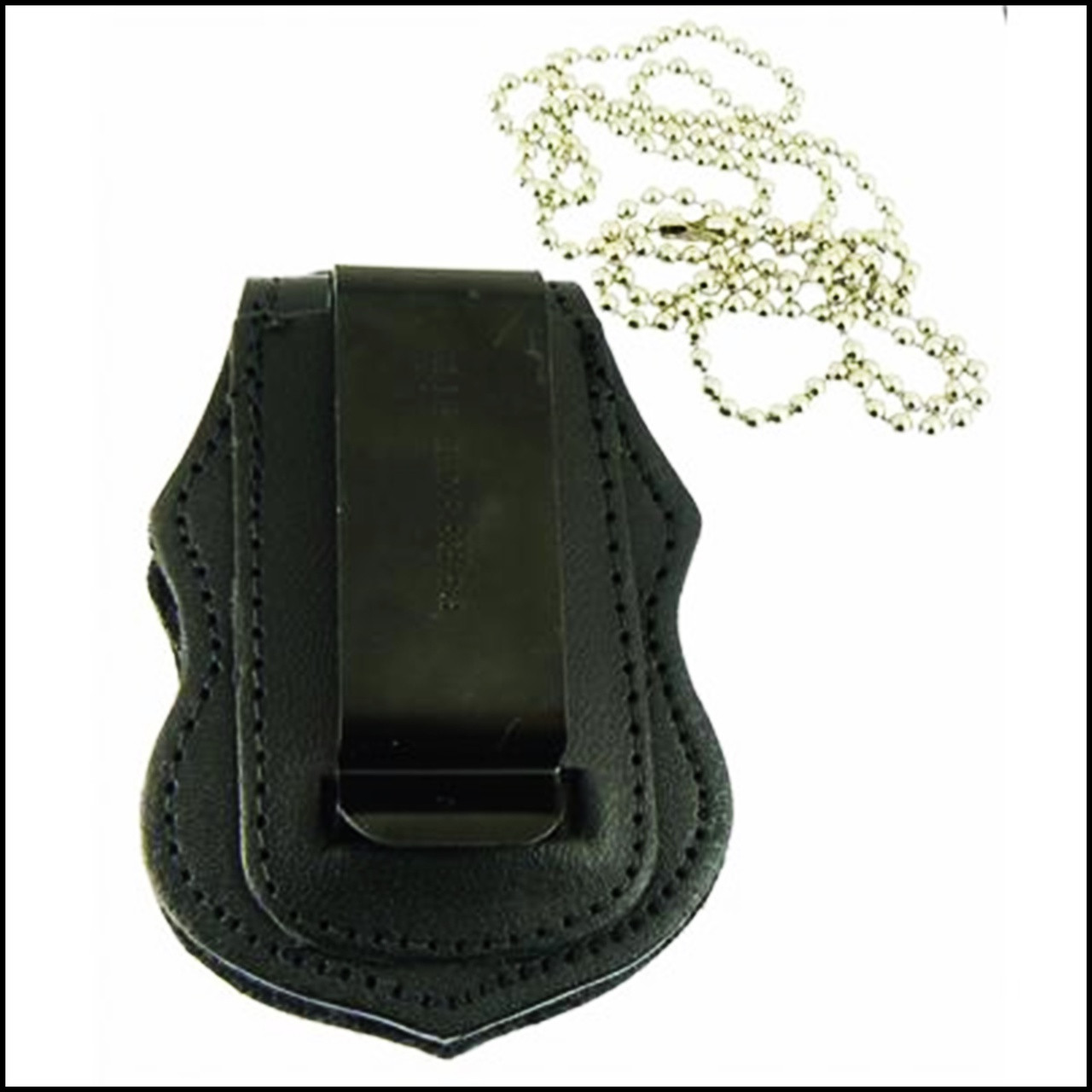 US Border Patrol Badge Shaped Badge Holder Clip and Chain