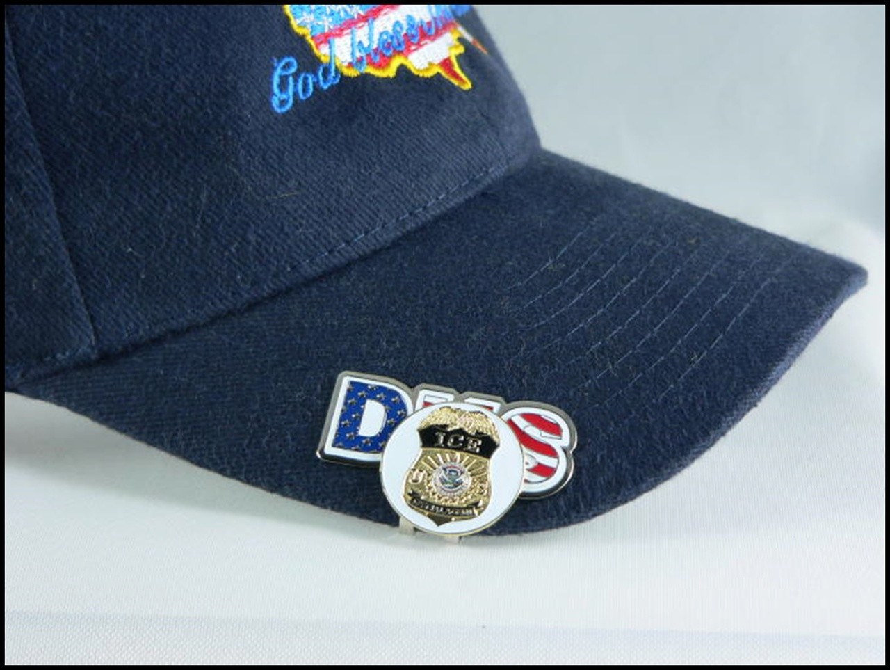 DHS Immigration and Customs Enforcement Golf Hat Clip and ICE Ball Marker Hat