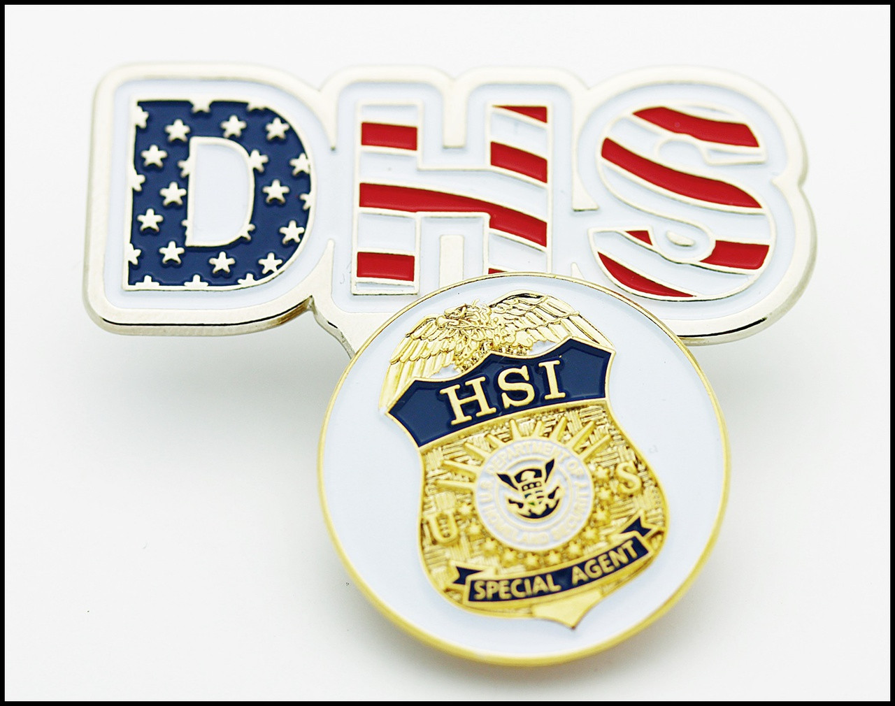 DHS Immigration and Customs Enforcement Golf Hat Clip and HSI Golf Ball Marker