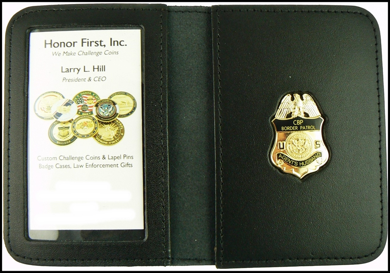 US Border Patrol Agent's Father Mini Badge ID Card Holder Case