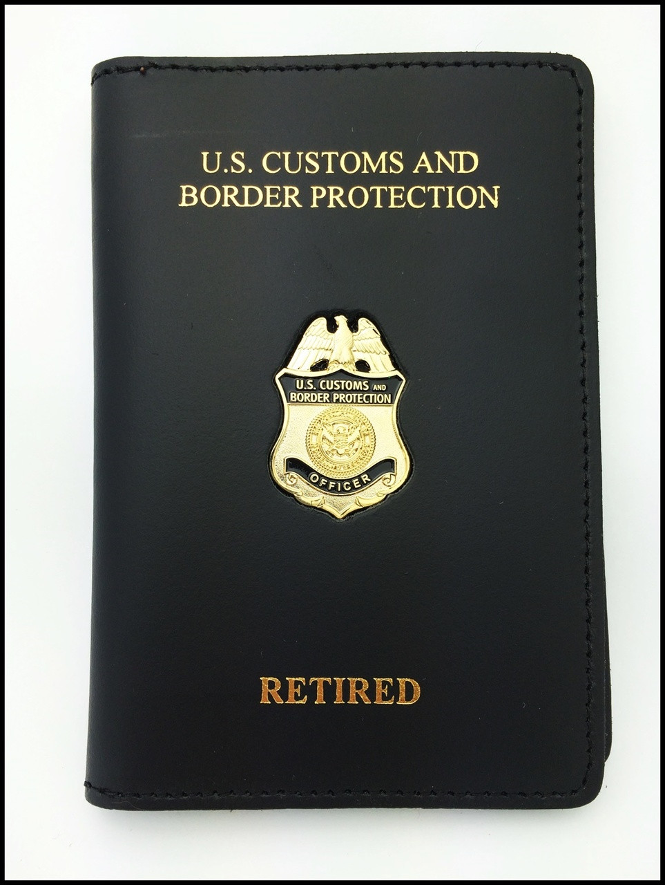 Customs and Border Protection Officer Mini Badge Credential Case - CBP & Retired Embossing