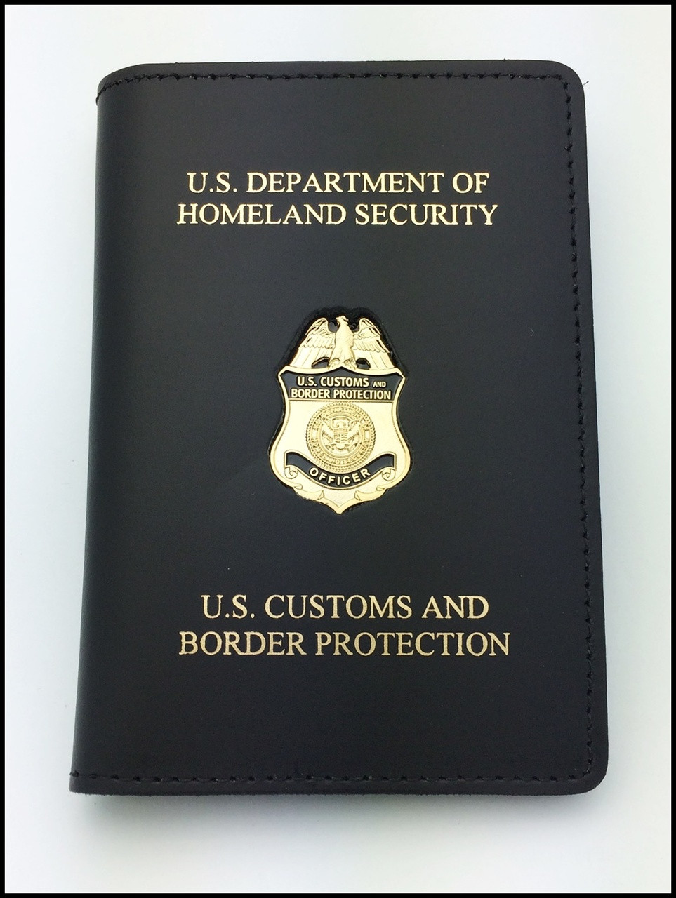 Customs and Border Protection Officer Mini Badge Credential Case - DHS & CBP Embossing