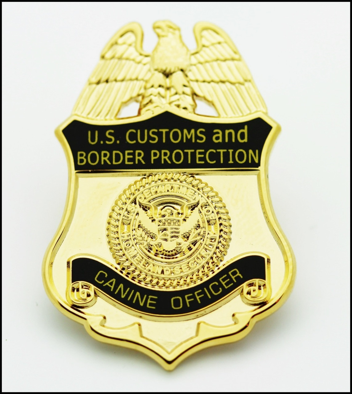 Customs and Border Protection Canine Officer Mini Badge Lapel Pin