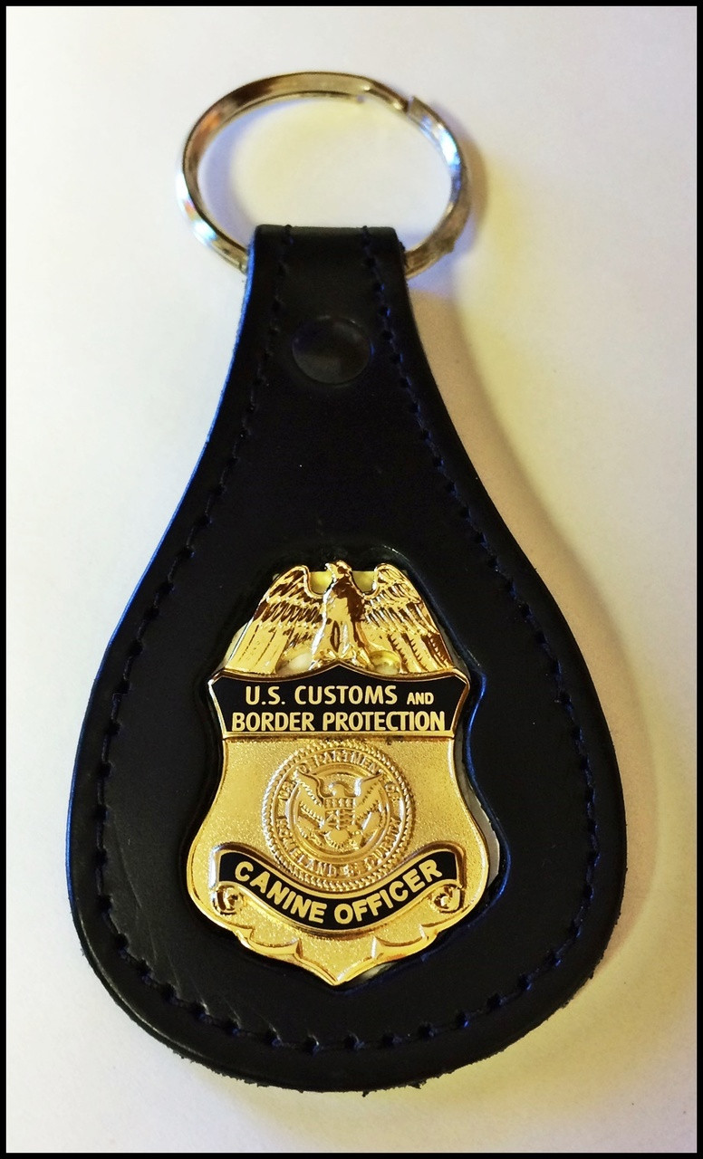 Customs and Border Protection Canine Officer Mini Badge Key Ring