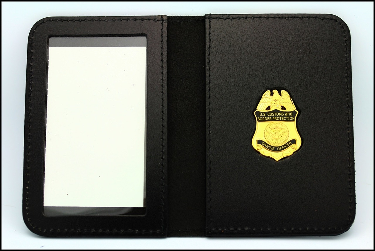 Customs and Border Protection Canine Officer Mini Badge ID Case - No Embossing