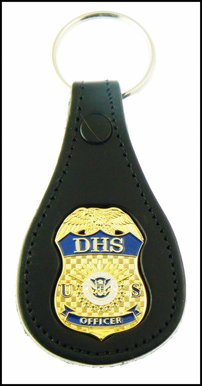 Department of Homeland Security Officer Mini Badge Key Ring