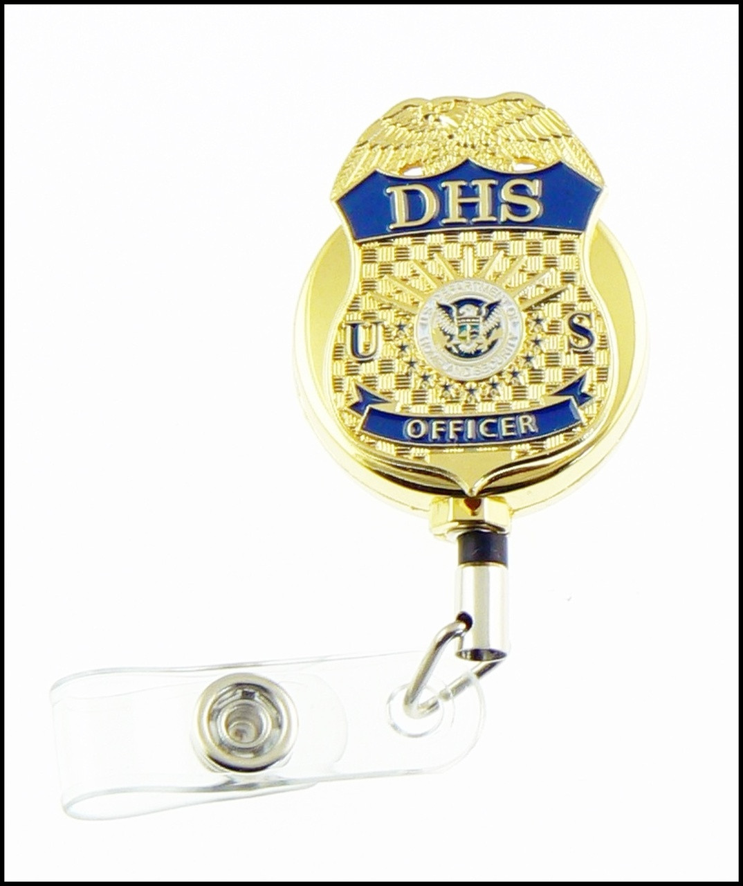 Department of Homeland Security Officer Mini Badge Gold ID Reel