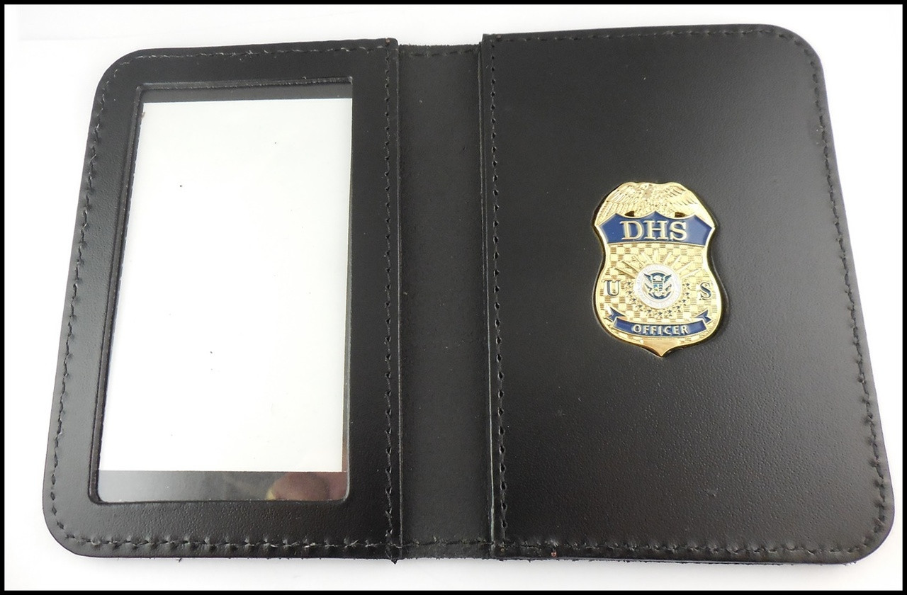 Department of Homeland Security Officer Mini Badge ID Case - No embossing