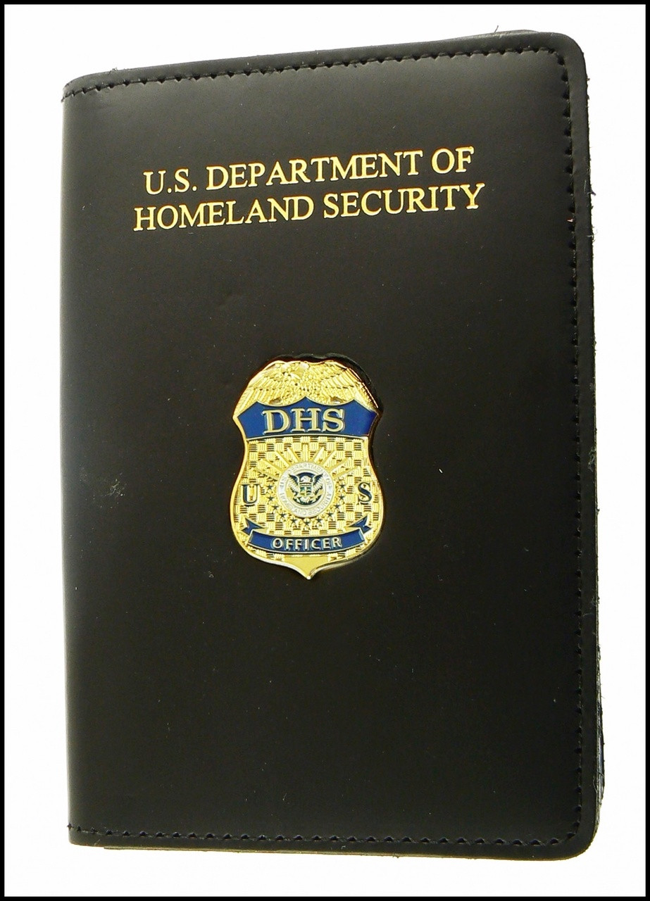 Department of Homeland Security Officer Mini Badge Credential Case - DHS embossing