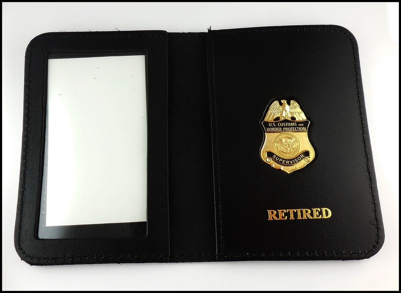 Customs and Border Protection Supervisor Mini Badge  ID Case - Retired embossing