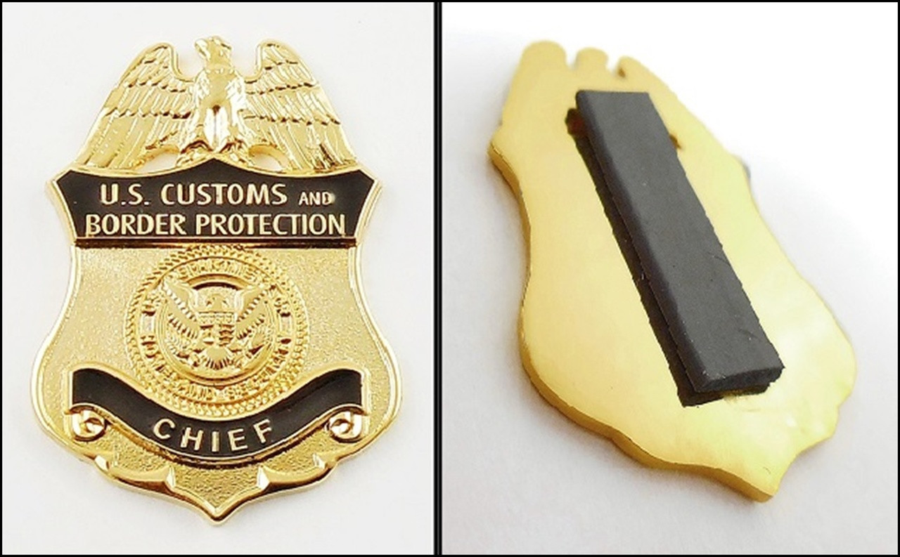 Customs and Border Protection Chief Mini Badge Magnet