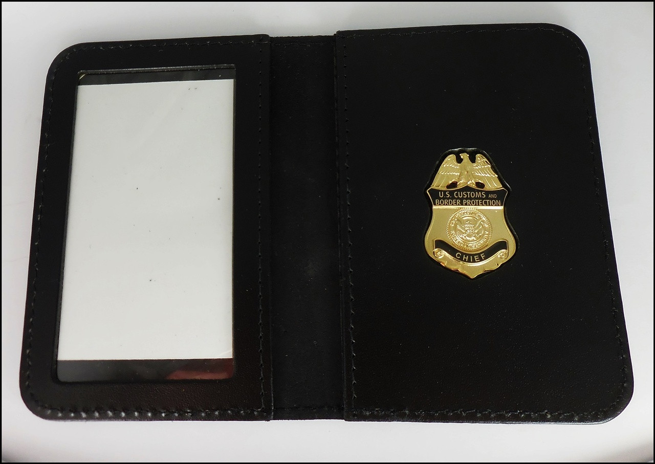 Customs and Border Protection Chief Mini Badge ID Case - No embossing