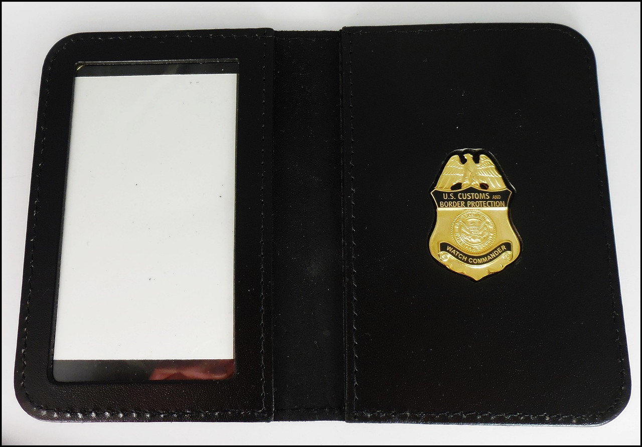 Customs and Border Protection Watch Commander Mini Badge ID Case - NO Embossing
