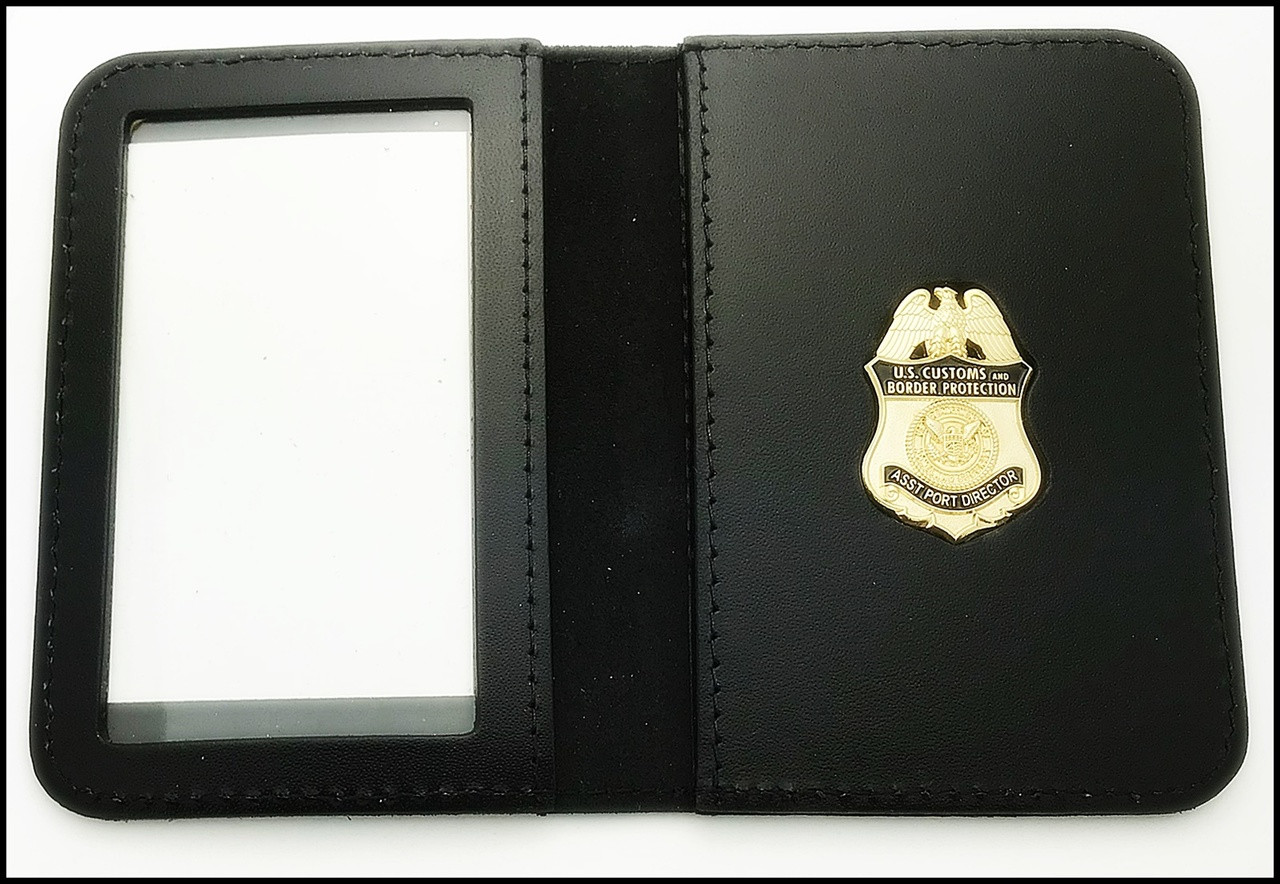 Customs and Border Protection Asst. Port Director Mini Badge ID Case - No embossing