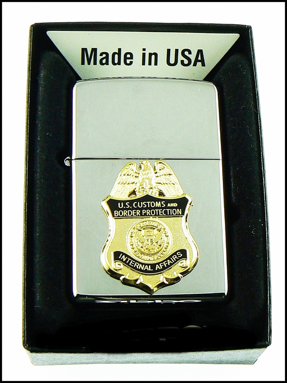 Customs and Border Protection Internal Affairs Mini Badge Chrome Cigarette Lighters