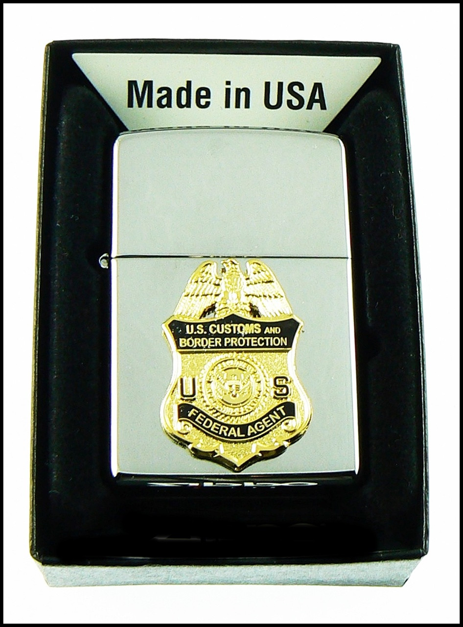 Customs and Border Protection Federal Agent Mini Badge Chrome Cigarette Lighters