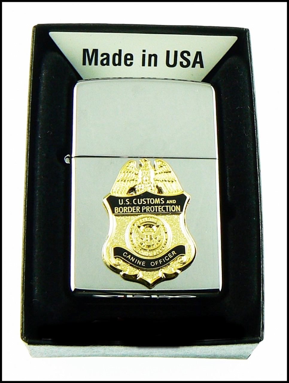 Customs and Border Protection Canine Officer Mini Badge Chrome Cigarette Lighters