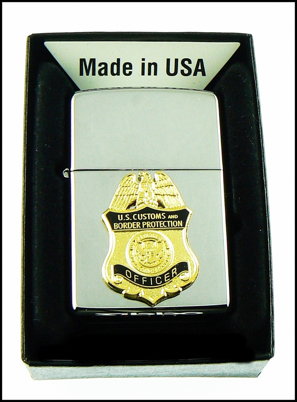 Customs and Border Protection Officer Mini Badge Chrome Cigarette Lighters