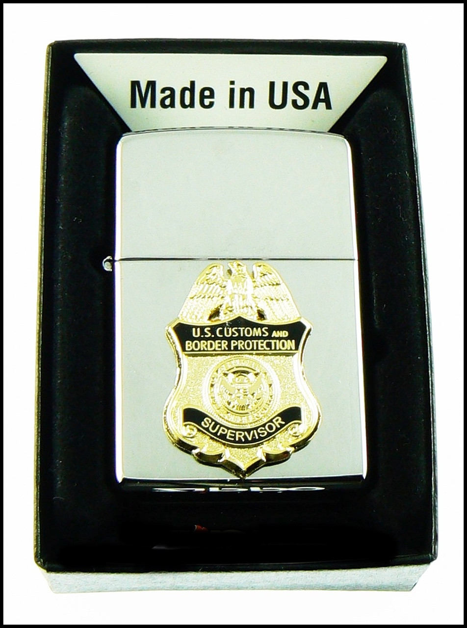 Customs and Border Protection Supervisor Mini Badge Chrome Cigarette Lighters