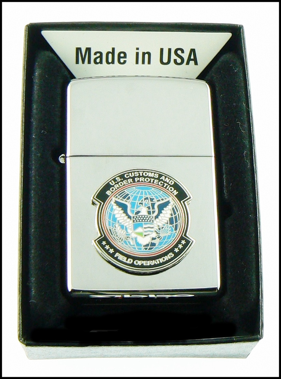 Customs and Border Protection Mini OFO Patch Chrome Cigarette Lighters