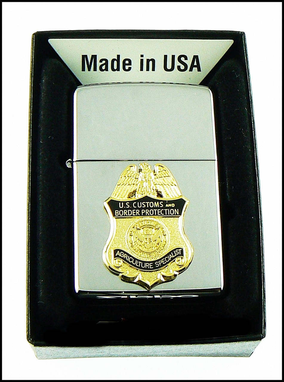 Customs and Border Protection Agriculture Specialist Mini Badge Chrome Cigarette Lighters