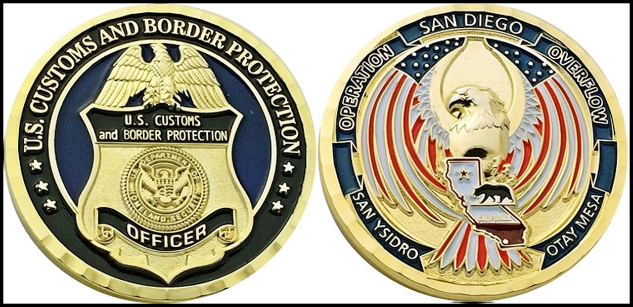 Customs and Border Protection Operation Overflow in California Challenge Coin