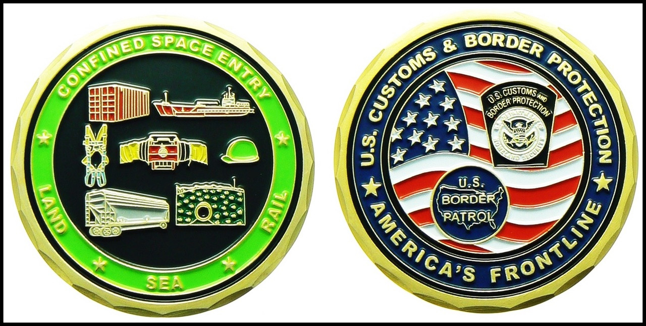 Customs and Border Protection Confined Space Entry Challenge Coin
