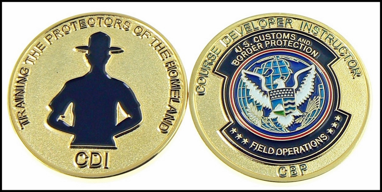 Customs and Border Protection Course Developer Instructor Challenge Coin