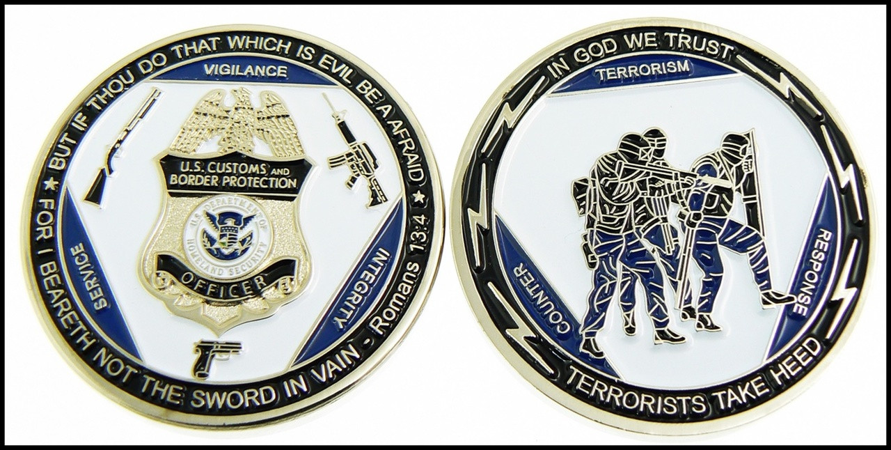 Customs and Border Protection Counter Terrorism Response Team Challenge Coin