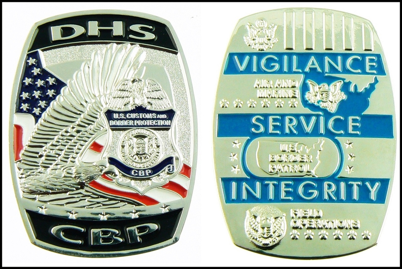 Customs and Border Protection DHS CBP Challenge Coin