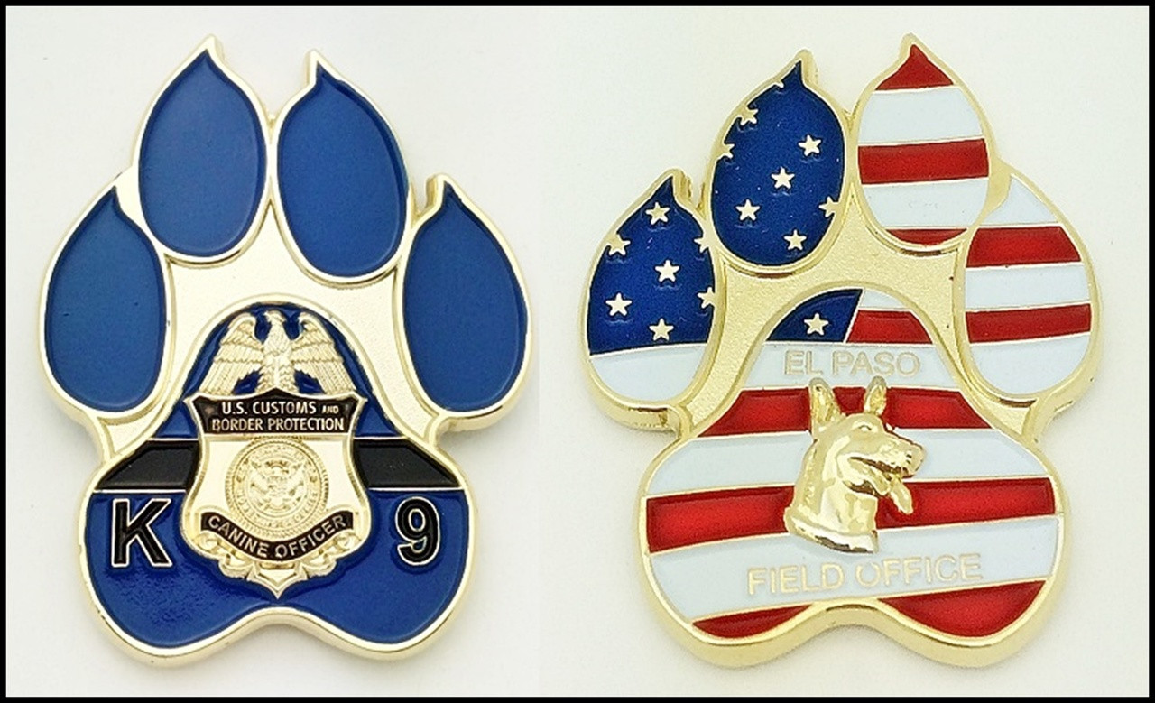 Customs and Border Protection Canine Challenge Coin