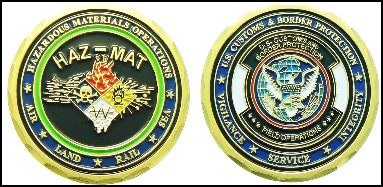 Customs and Border Protection Hazmat Challenge Coin