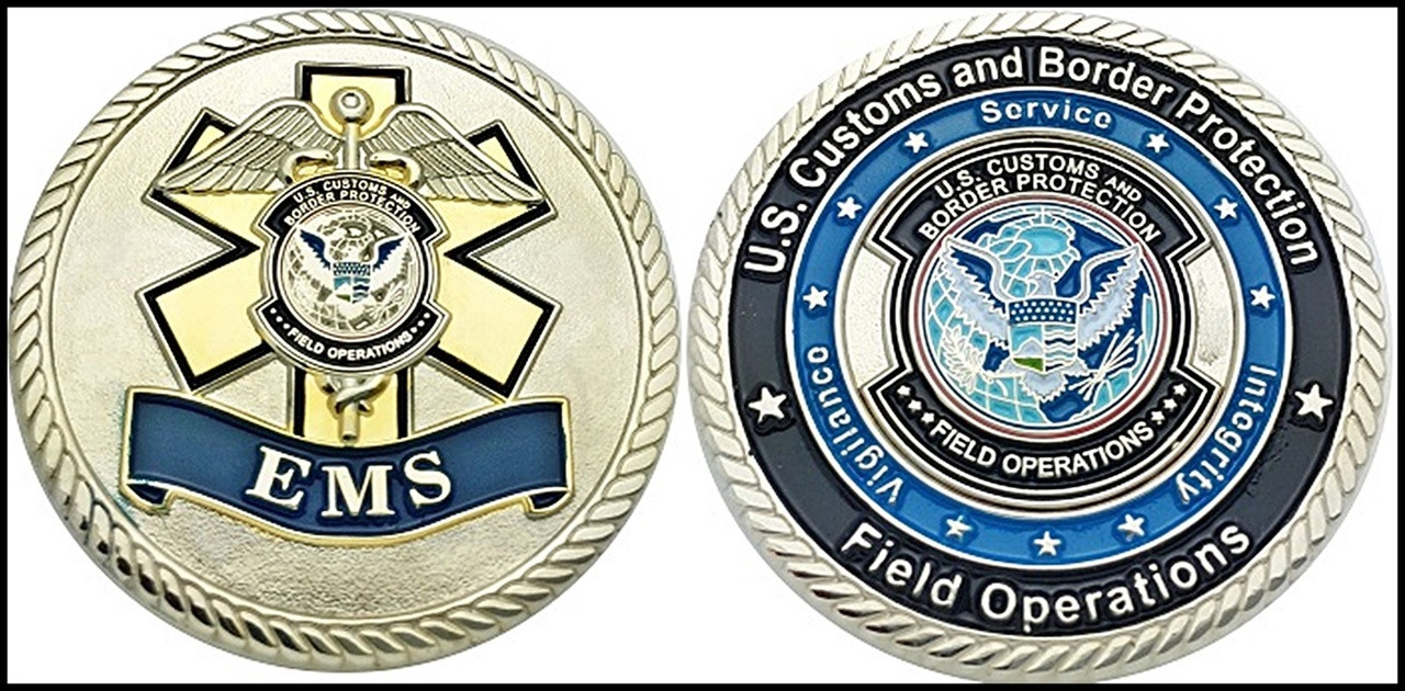 Customs and Border Protection Emergency Medical Services Challenge Coin
