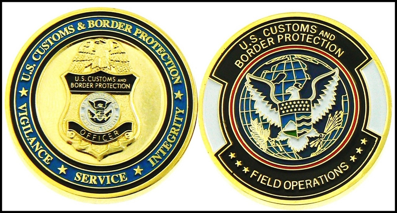 Customs and Border Protection Badge and Patch Challenge Coin