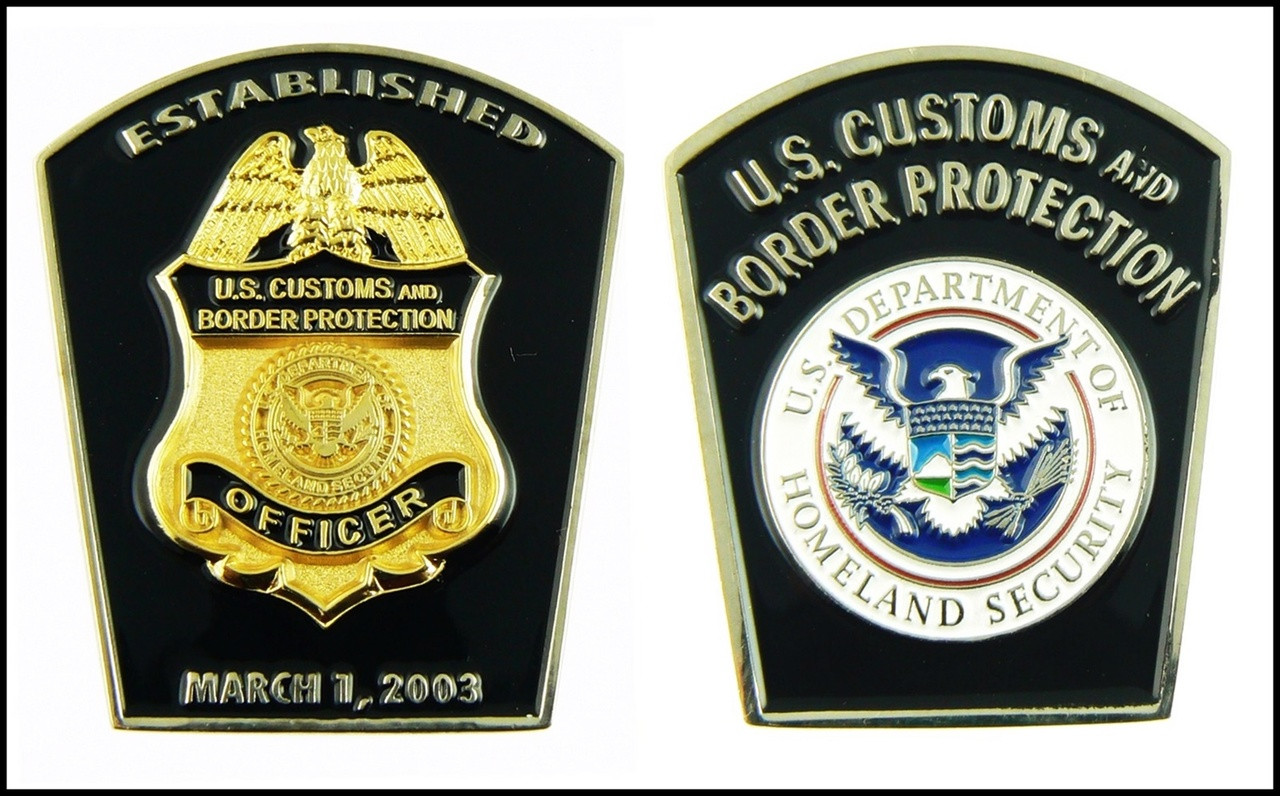 Customs and Border Protection Patch Shaped Challenge Coin