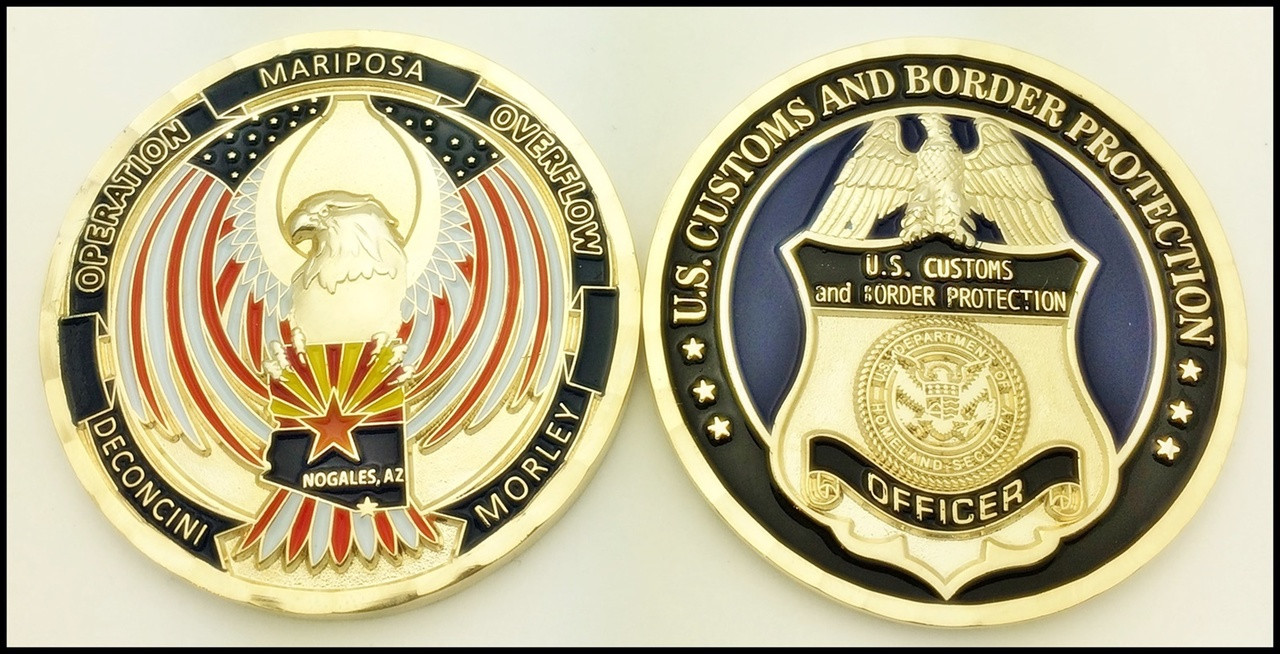 Customs and Border Protection Operation Overflow in Arizona Challenge Coin