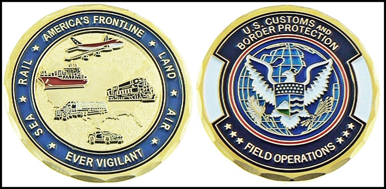 Customs and Border Protection Rail, Sea, Land, Air Challenge Coin