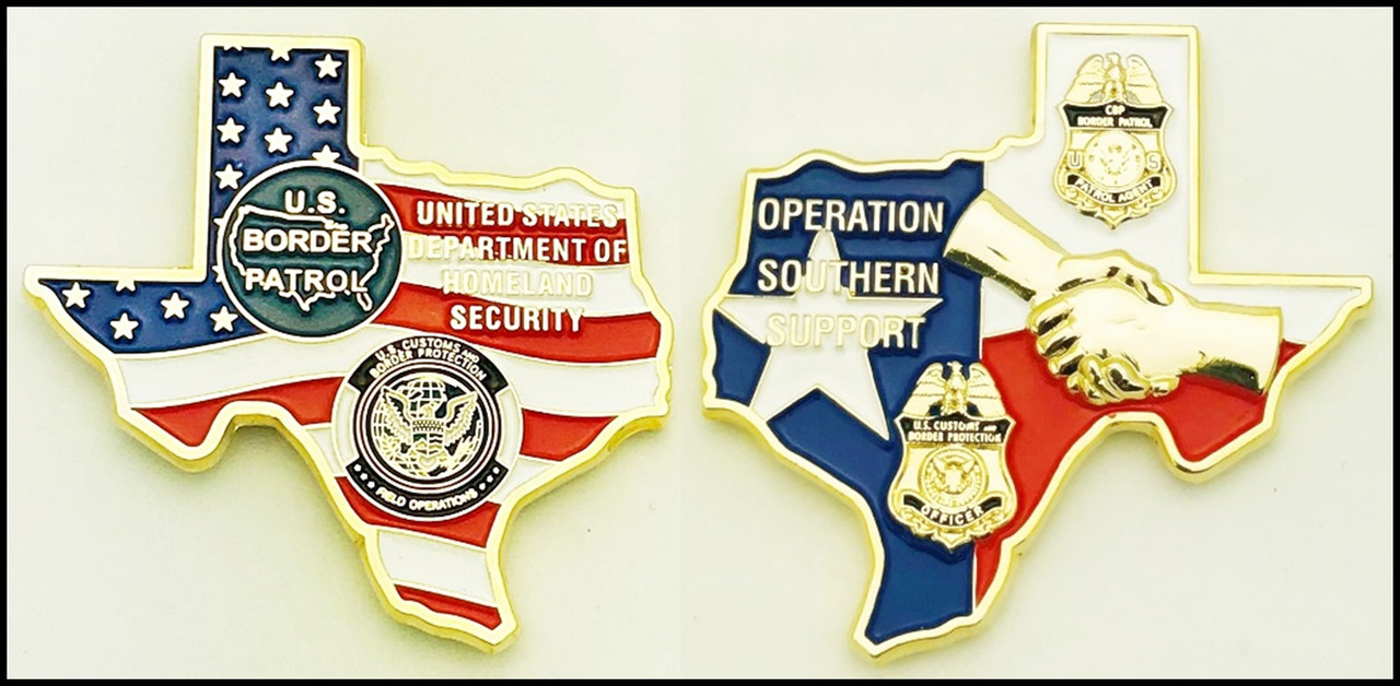 Customs and Border Protection Operation Southern Support Challenge Coin
