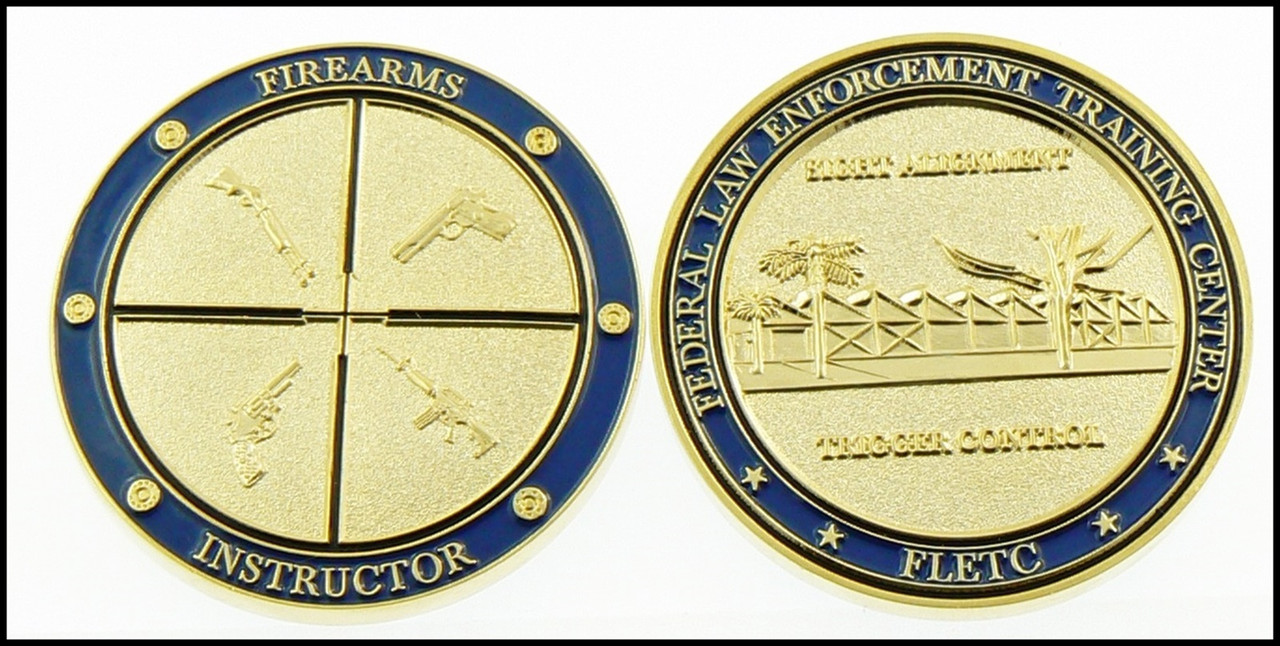Customs and Border Protection FLETC Firearms Academy Challenge Coin