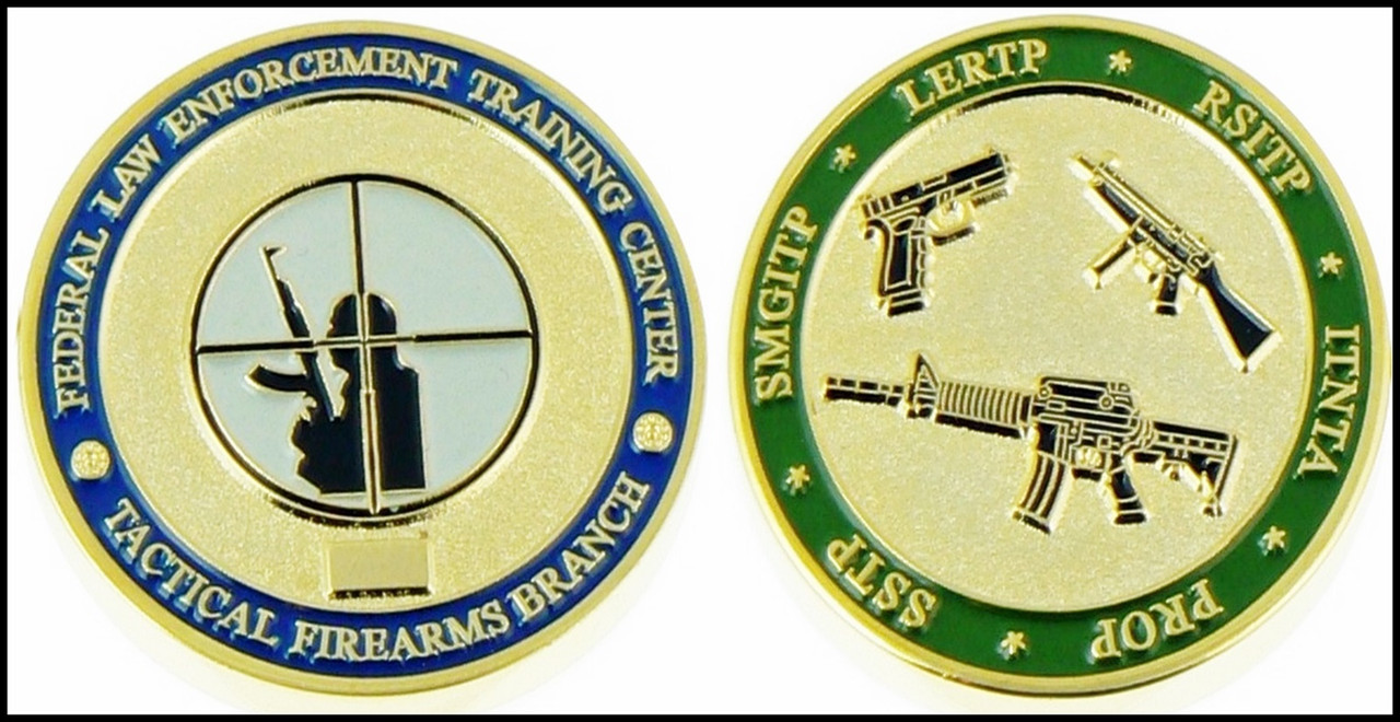 Customs and Border Protection FLETC Tactical Firearms Challenge Coin
