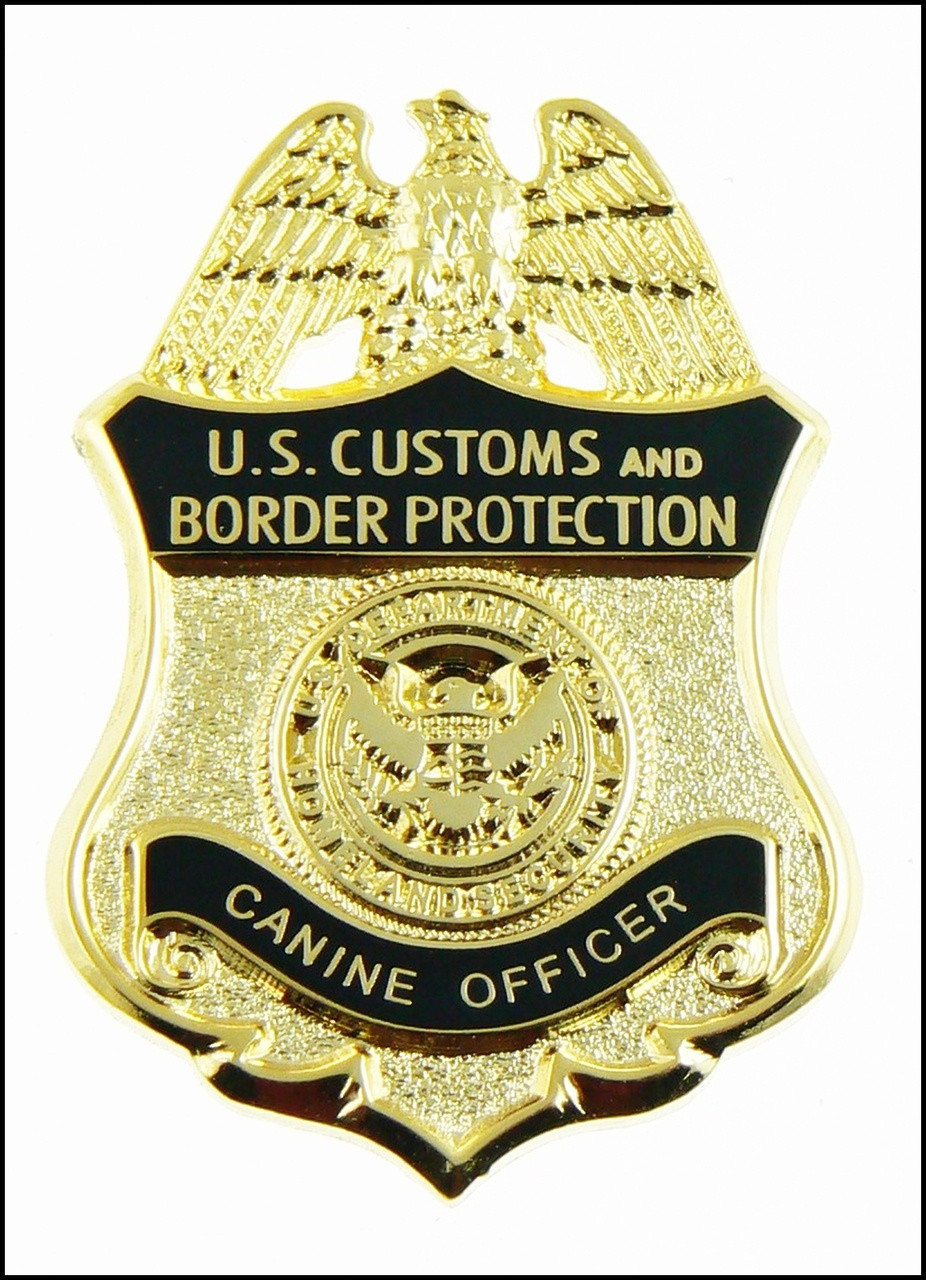 """Customs and Border Protection 1.25"""" Canine Officer Mini Badge Magnet"""