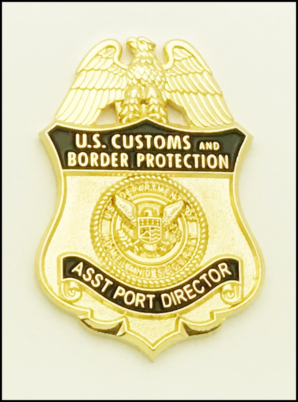 Customs and Border Protection Asst Port Director Mini Badge Magnet