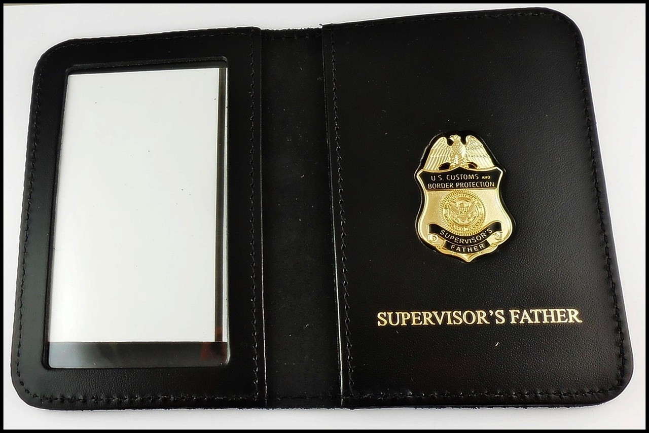 CBP Supervisors Father Mini Badge ID Case